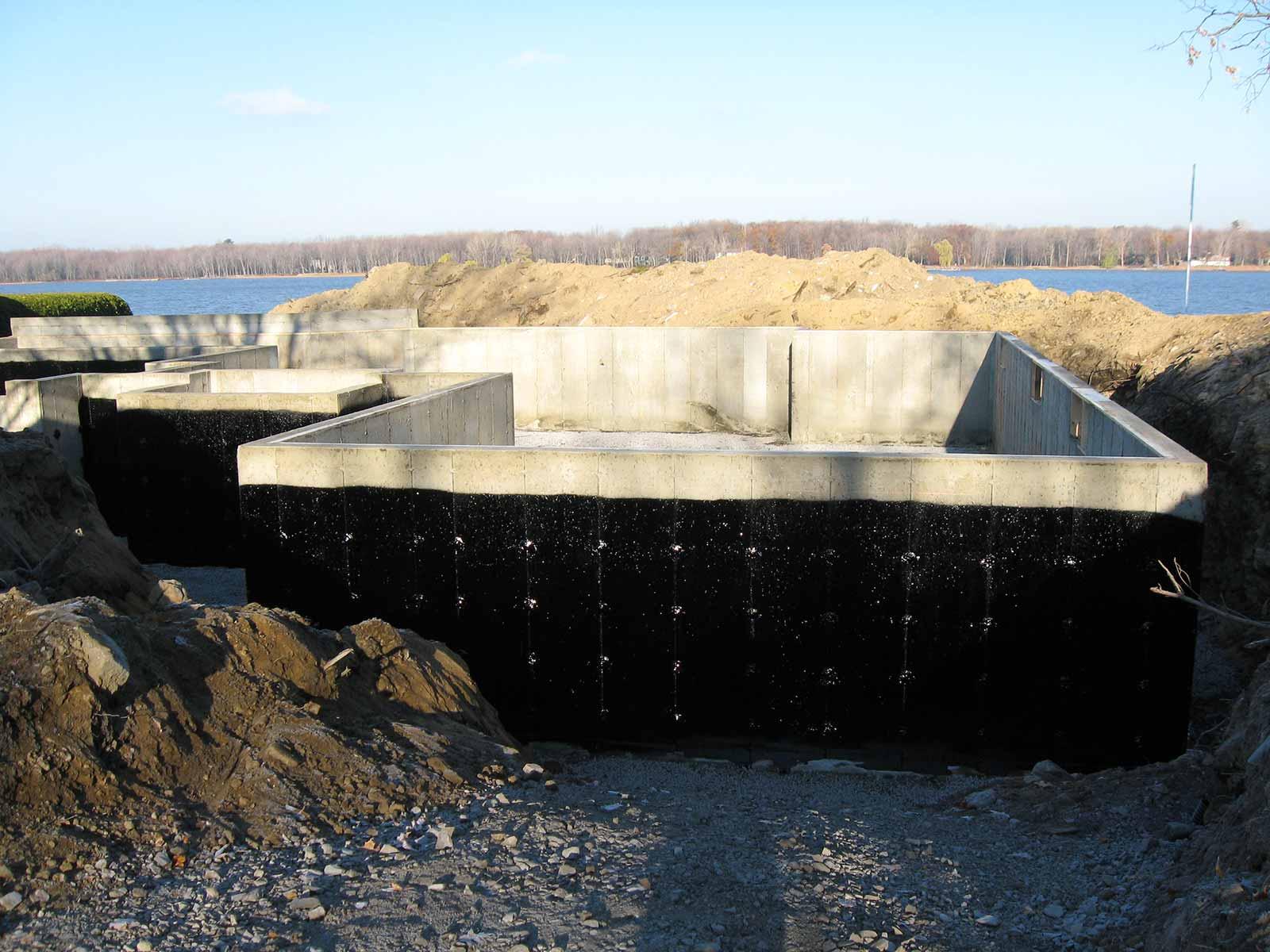 construction maison fondation terminée